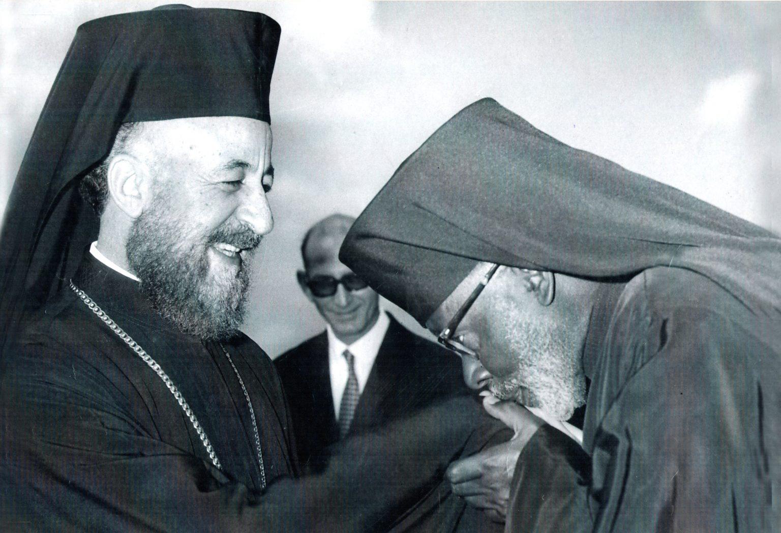 Makarios meets Archimandrite George Gathuna